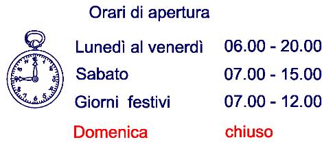 Orari apertura chez alex for Orari apertura bricoman cagliari